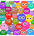 seamless pattern smiles vector image