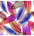 Seamless pattern with abstract colorful feathers vector image vector image