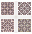 seamless texture collection vector image vector image