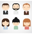 Set of colorful elegant successful people icons vector image vector image