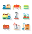 Set of colourful industrial factory vector image vector image