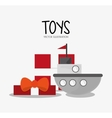 Ship toy and game design vector image vector image