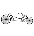 silhouette longrider retro bicycle isolated on vector image vector image