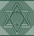 six pointed star woven of fine lines vector image