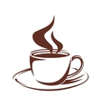 Steaming cup of full roast coffee vector image