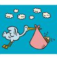stork baby vector image