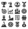 success and victory icons set on white background vector image