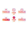 swipe up insta story icon scroll arrow drag vector image vector image