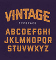 vintage typeface retro style font vector image