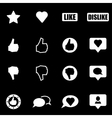 white like icon set vector image vector image