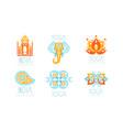 yoga studio design with indian mandala motifs vector image vector image
