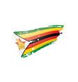 zimbabwe flag on a white vector image vector image