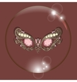 carnival mask bubble with reflections red vector image