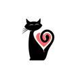Elegant cat logo vector image