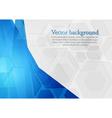 Bright blue technology design vector image