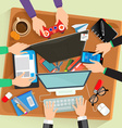 Desk flat design vector image