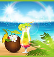 holiday by the sea vector image