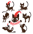 Set Of Cat Cartoon With Different Actions vector image
