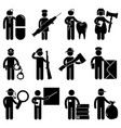 a set construction worker job and occupation vector image