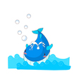A swimming whale vector image vector image