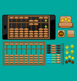 abacus template for mobile phone vector image