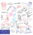 accessories to office vector image vector image