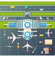 airport parking top view flat image vector image