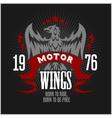 American Eagle Motorcycle Club Emblem vector image vector image