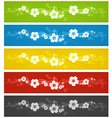 banner spring flowers color vector image
