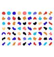 blob shape abstract round fluid asymmetric vector image