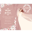 Bride and roses vector image vector image