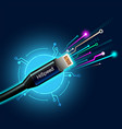 cable high speed internet vector image