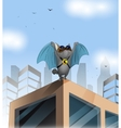 Cartoon cat on the roof vector image
