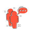 cartoon people with speach bubble icon in comic vector image vector image