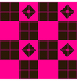 Chessboard Pink Blown Background vector image