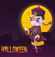 Chinese Hopping Vampire Ghost for Halloween Card vector image vector image