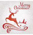 Christmas greeting card with deer vector image vector image