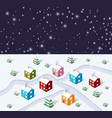 christmas winter city vector image vector image