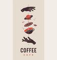 coffee template label logo vector image vector image
