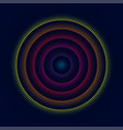 colorful glowing concentric circles of dots vector image vector image