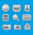computer system stickers vector image vector image