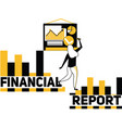 creative word concept financial report and people vector image vector image