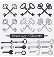 Crossed keys set vector image vector image