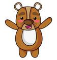 cute and cheerful bear wild animal vector image vector image
