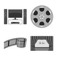 design of cinematography and studio icon vector image