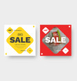 design square banner for big sale with red and vector image vector image