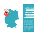 dortmund map infographic vector image vector image