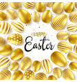 easter background with realistic golden eggs vector image vector image
