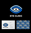 eye clinic logo ophthalmology vector image