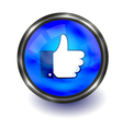 facebook like logo vector image